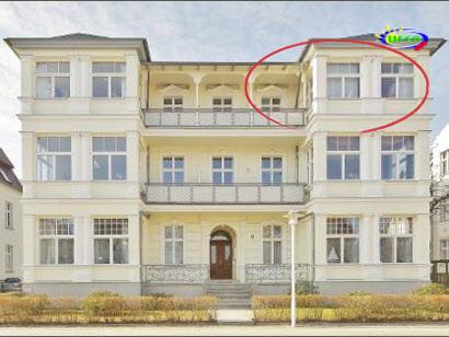 Die Villa Kurfürst von außen (FeWo Nr. 8)