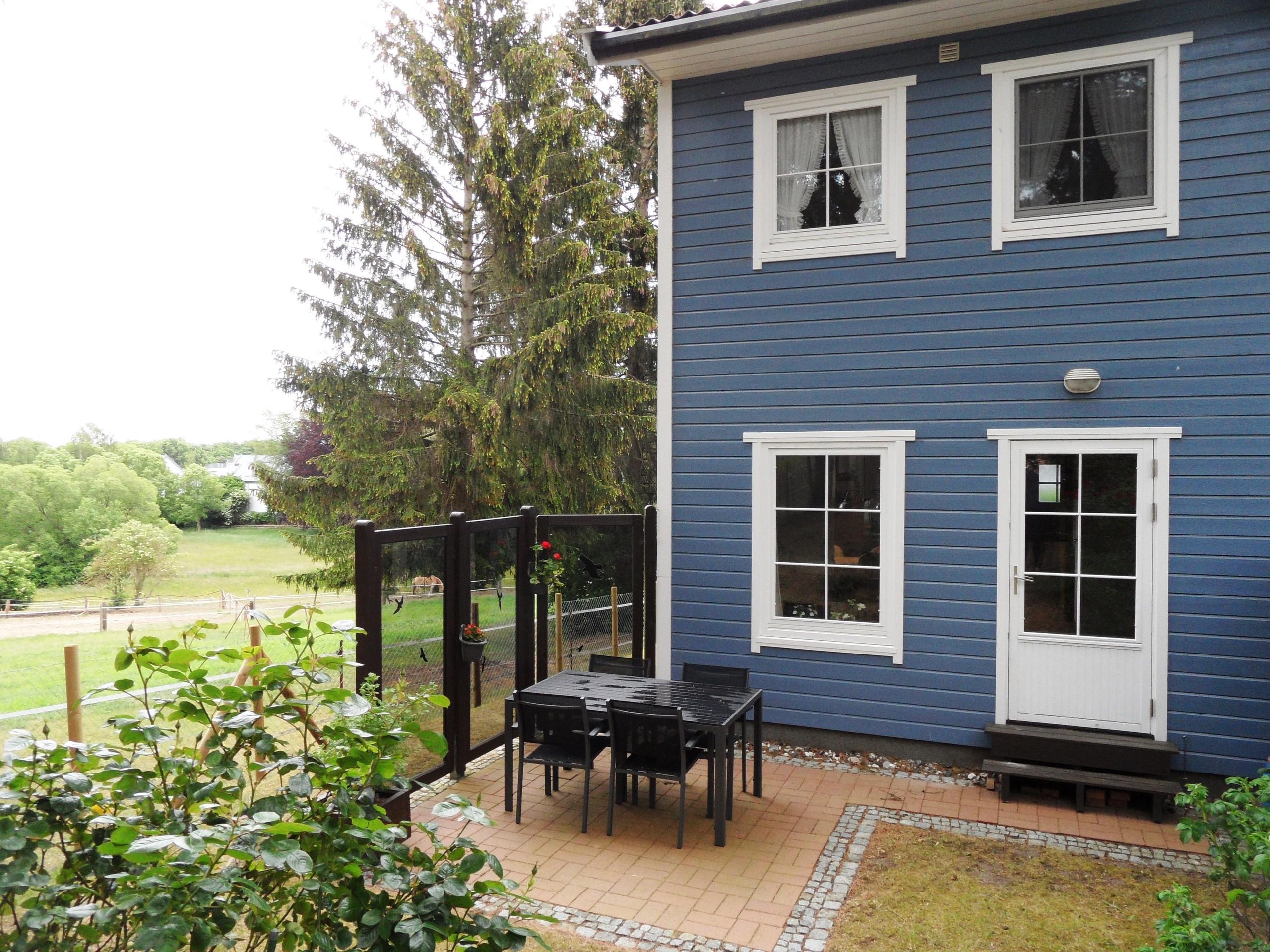 Terrasse mit Blick auf die Pfederkoppel