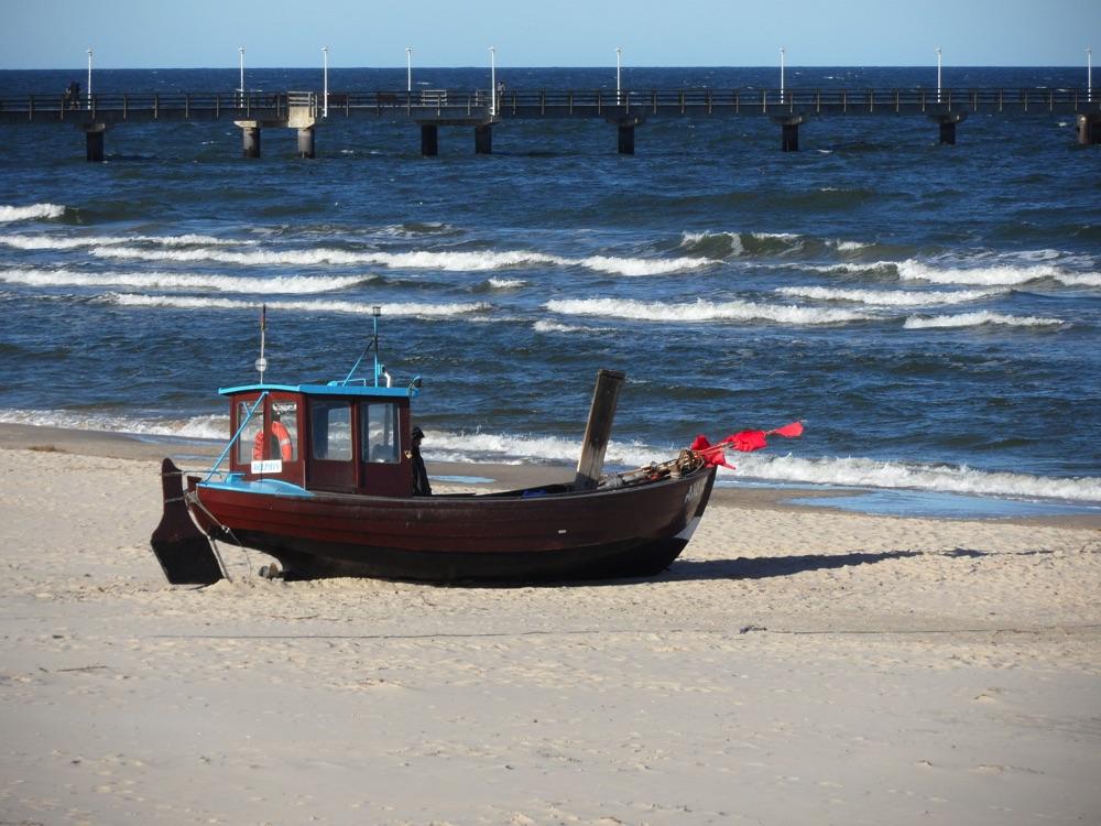 Ein Fischerboot - Seebad Ahlbeck