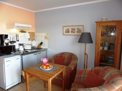 Gut ausgestattete Küchenbereich