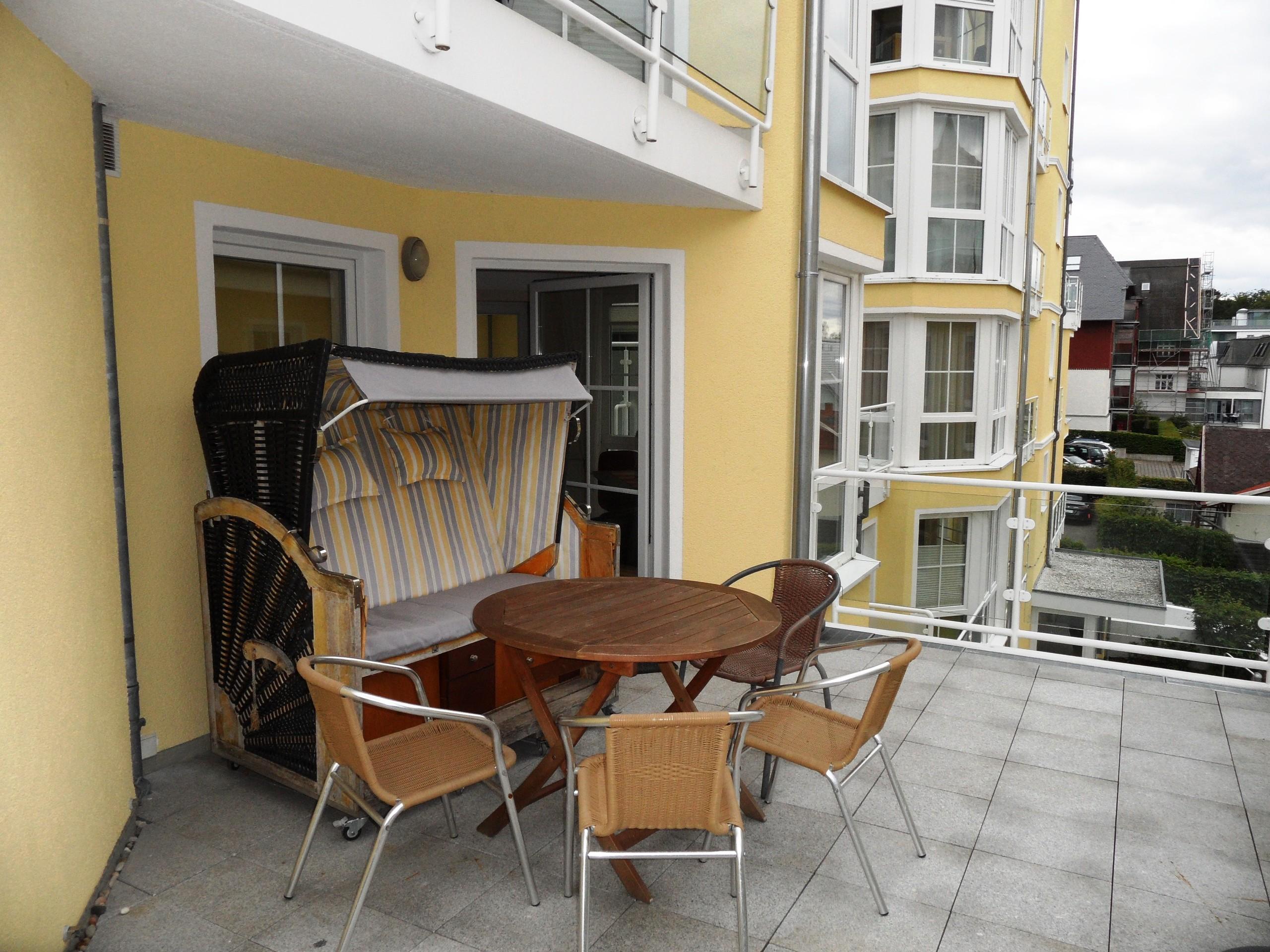 Terrasse inkl. Strandkorb