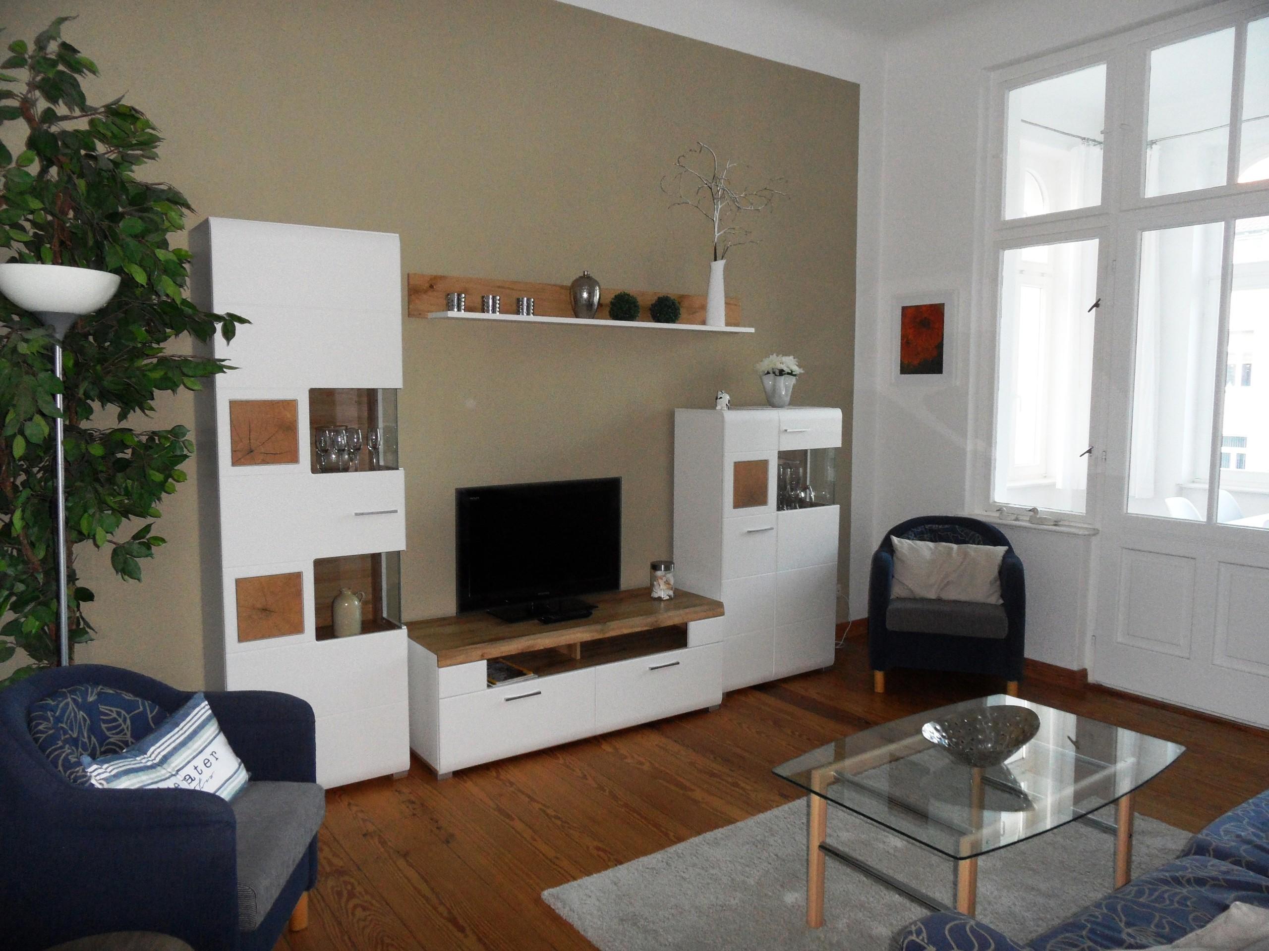 Wohnzimmer mit Veranda - Frühstück mit Seeblick