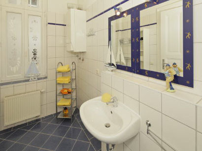 Sauberes und gepflegtes Badezimmer